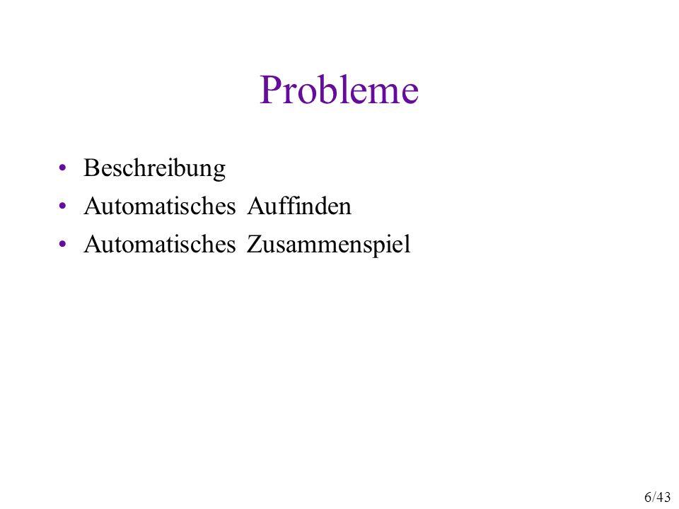 Probleme Beschreibung Automatisches Auffinden