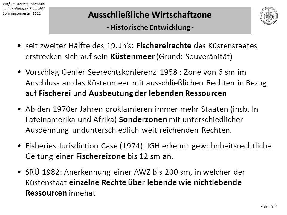 Ausschließliche Wirtschaftzone - Historische Entwicklung -