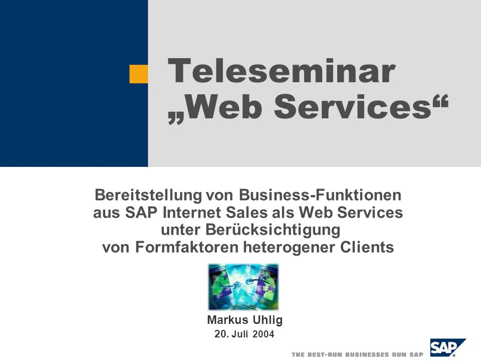 "Teleseminar ""Web Services"