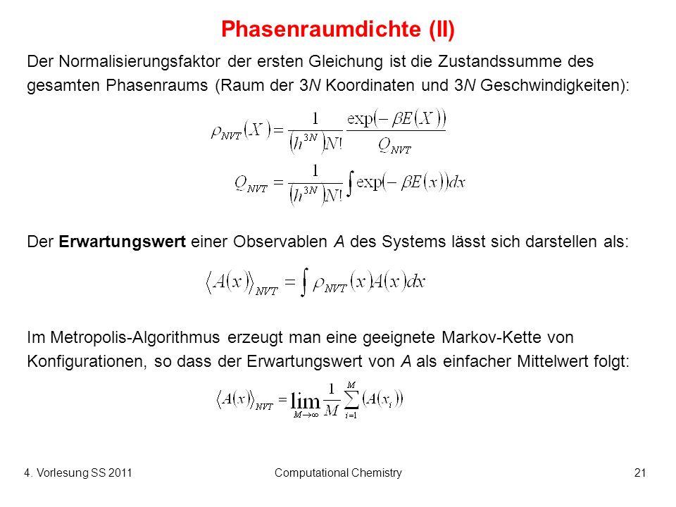 Phasenraumdichte (II)
