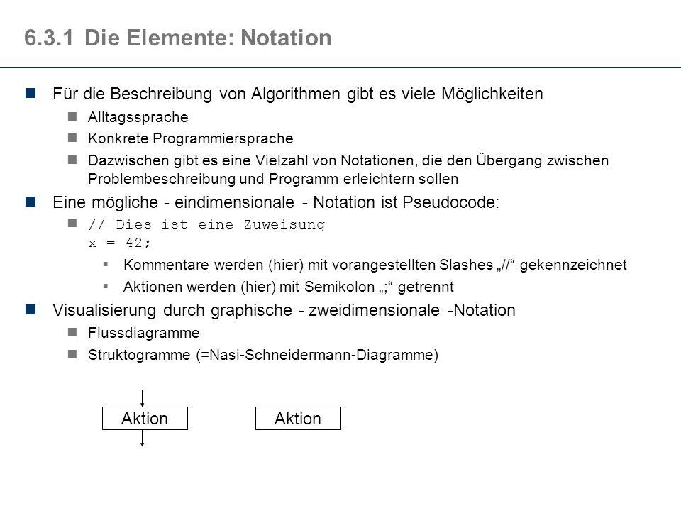 6.3.1 Die Elemente: Notation