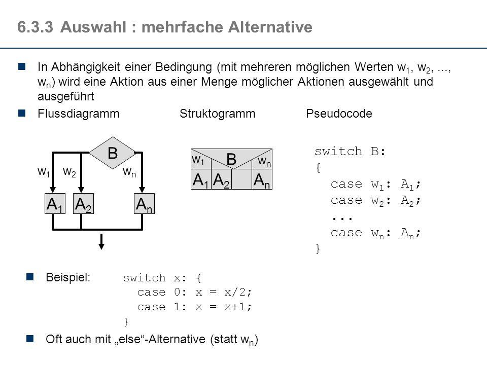 6.3.3 Auswahl : mehrfache Alternative