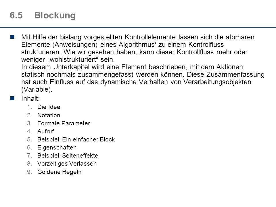 6.5 Blockung