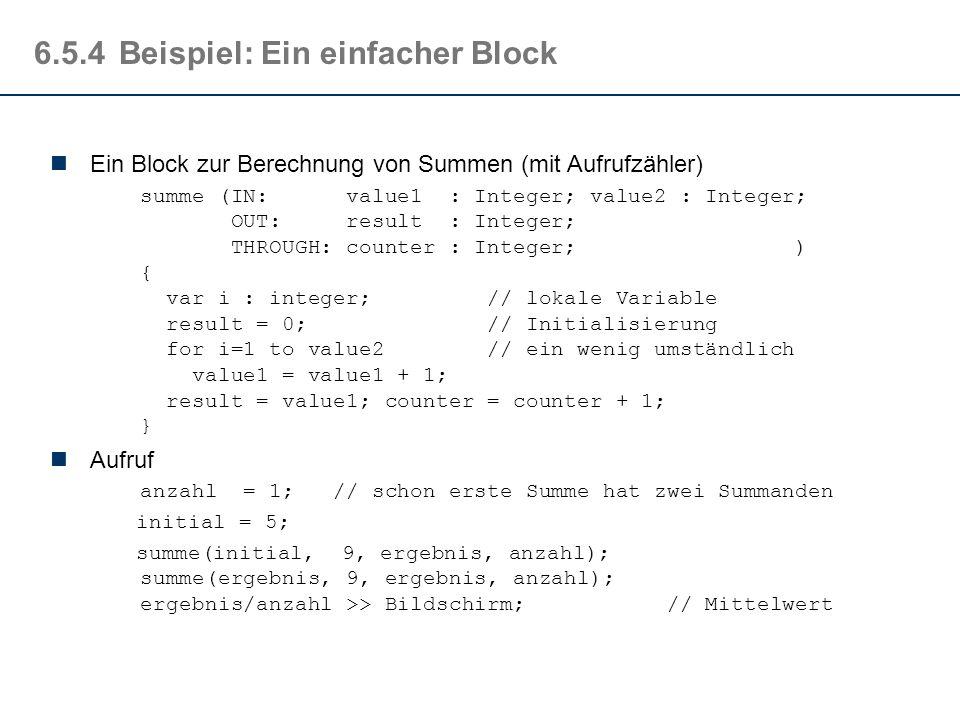 6.5.4 Beispiel: Ein einfacher Block