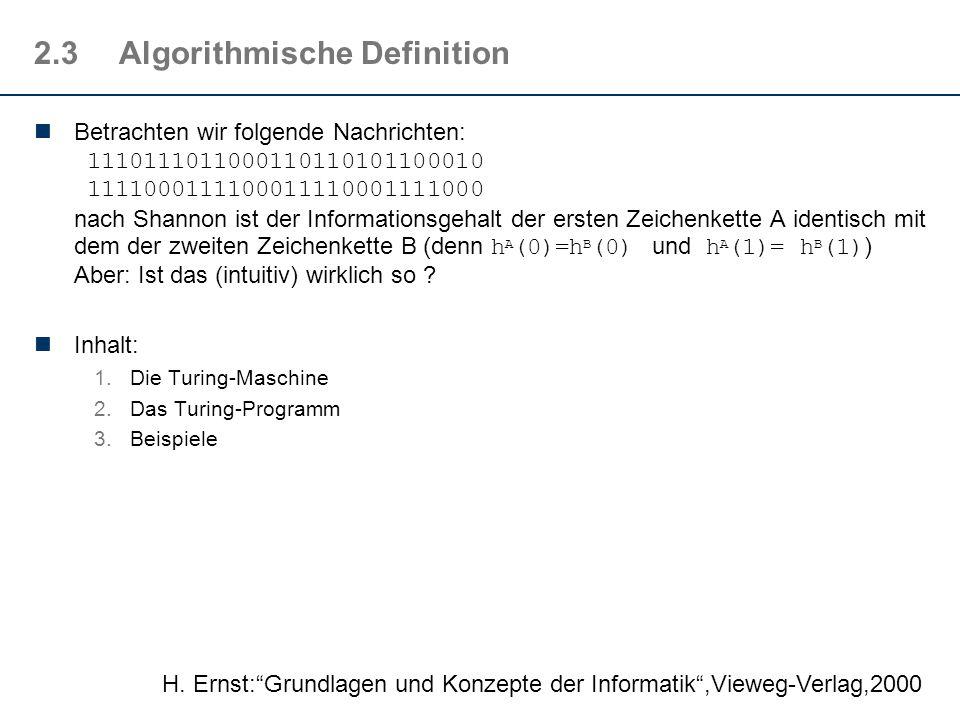 2.3 Algorithmische Definition
