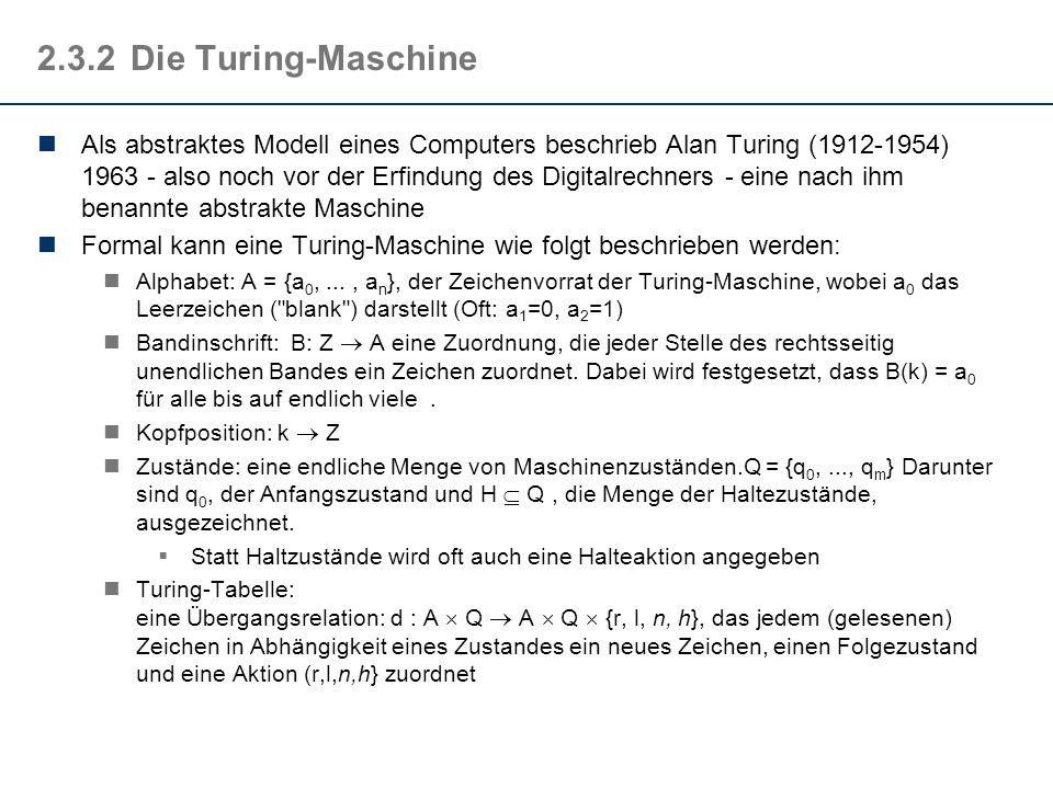 2.3.2 Die Turing-Maschine