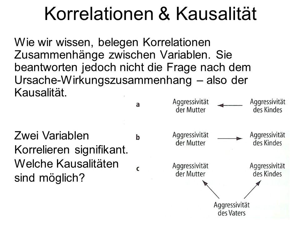 Korrelationen & Kausalität