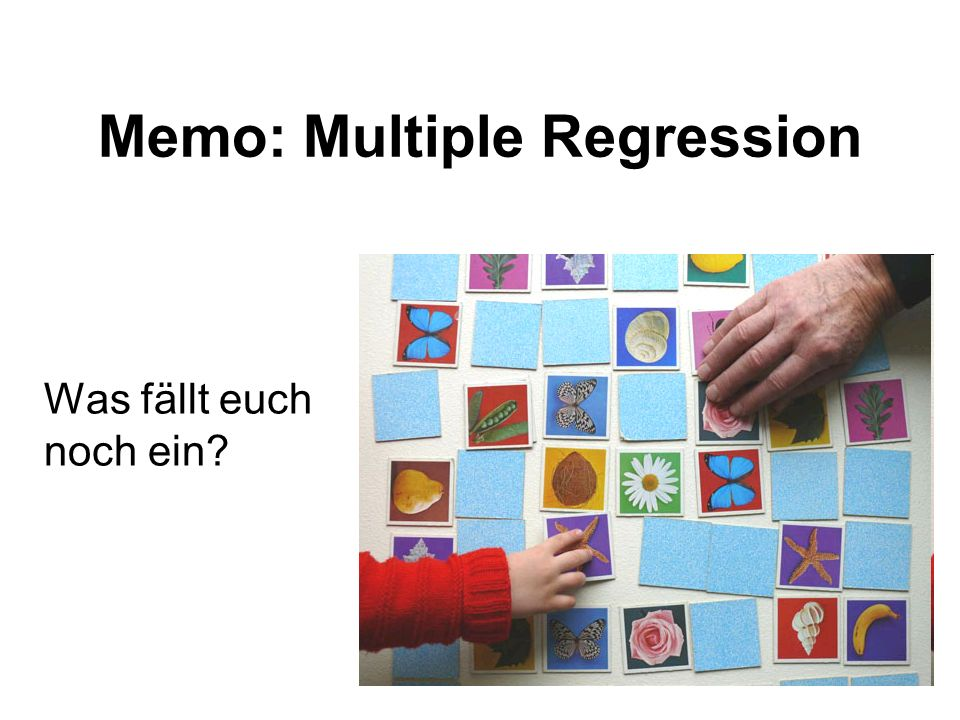 Memo: Multiple Regression
