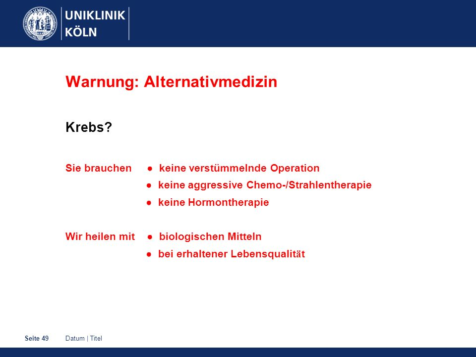 Warnung: Alternativmedizin
