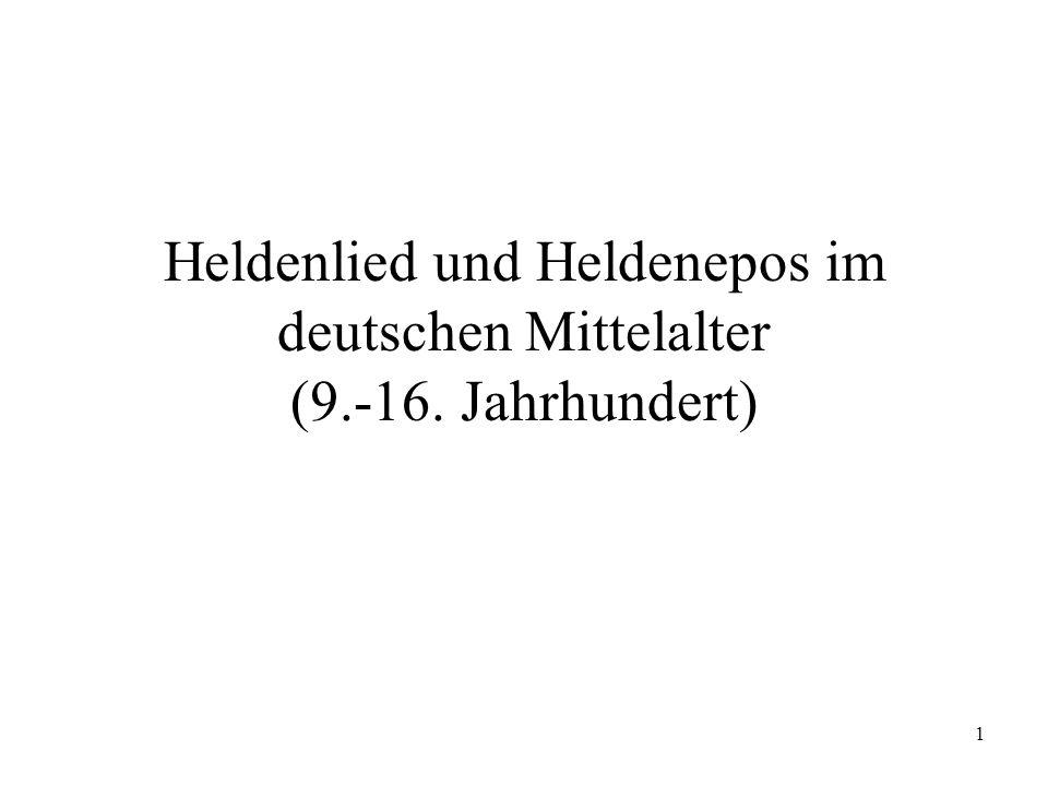 Heldenlied und Heldenepos im deutschen Mittelalter (9. -16