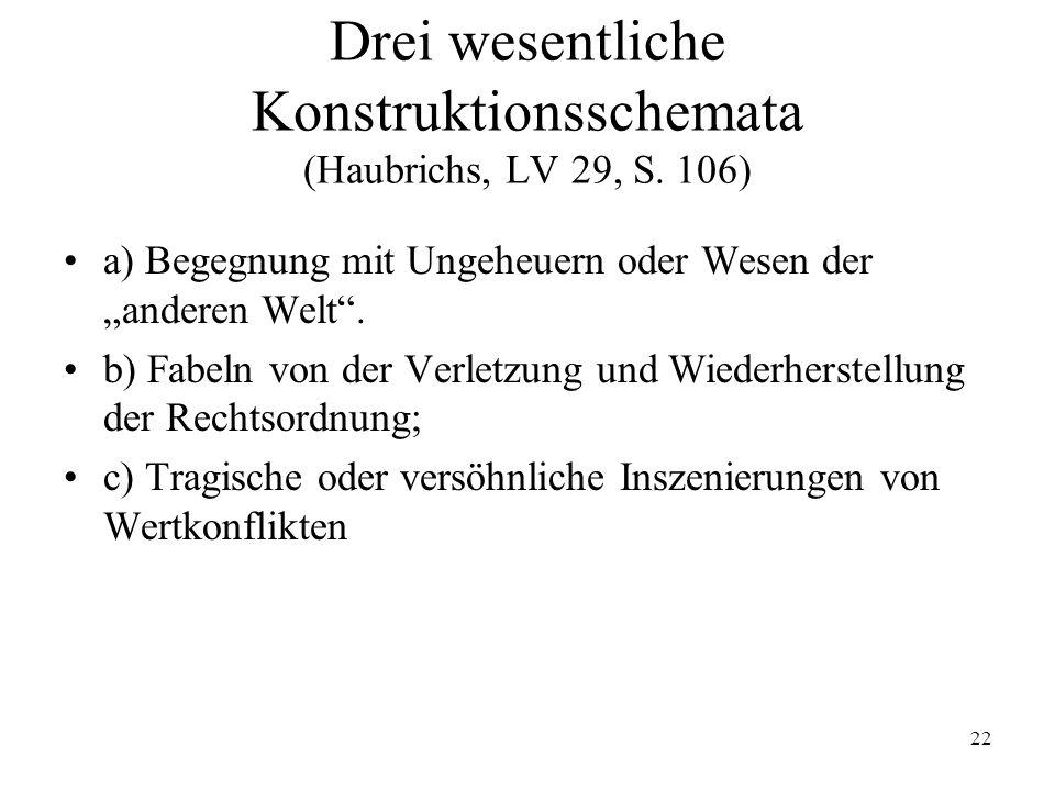 Drei wesentliche Konstruktionsschemata (Haubrichs, LV 29, S. 106)