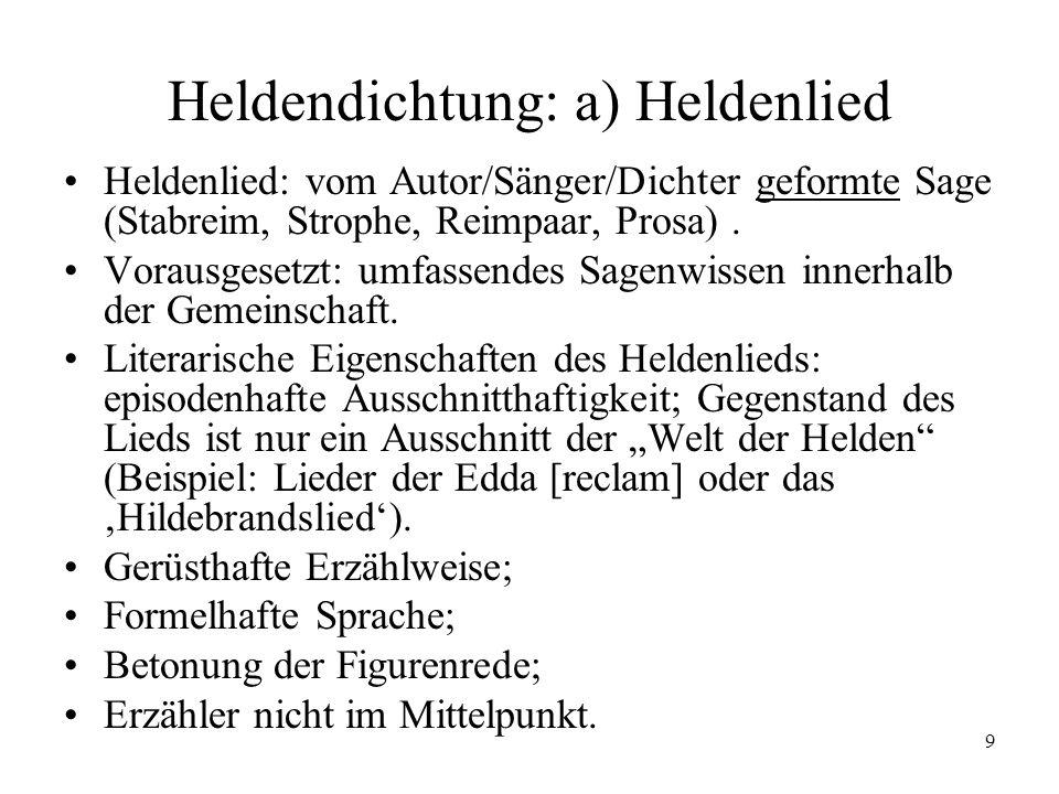 Heldendichtung: a) Heldenlied