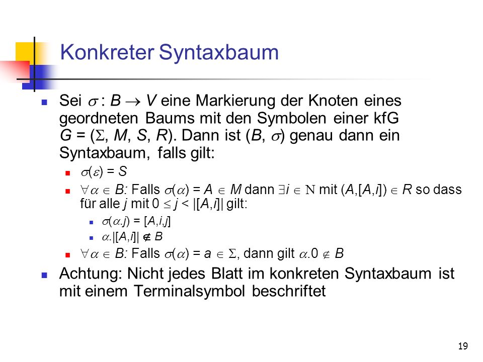 Konkreter Syntaxbaum