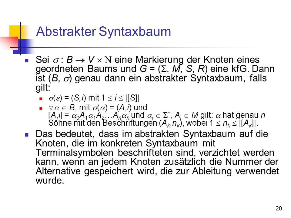 Abstrakter Syntaxbaum