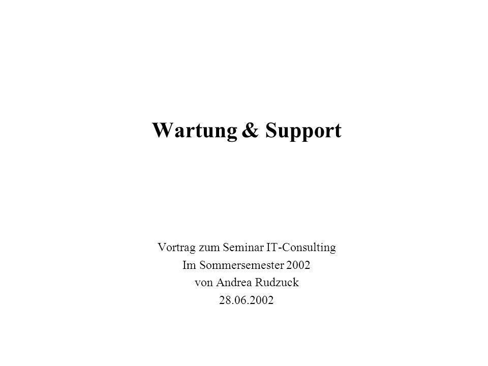 Vortrag zum Seminar IT-Consulting