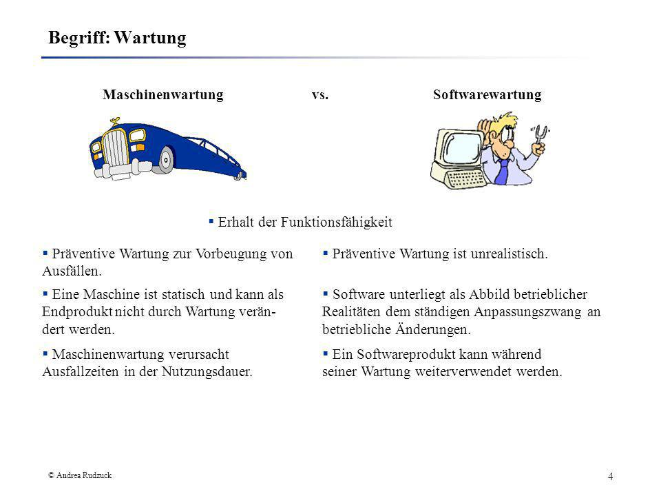 Maschinenwartung vs. Softwarewartung