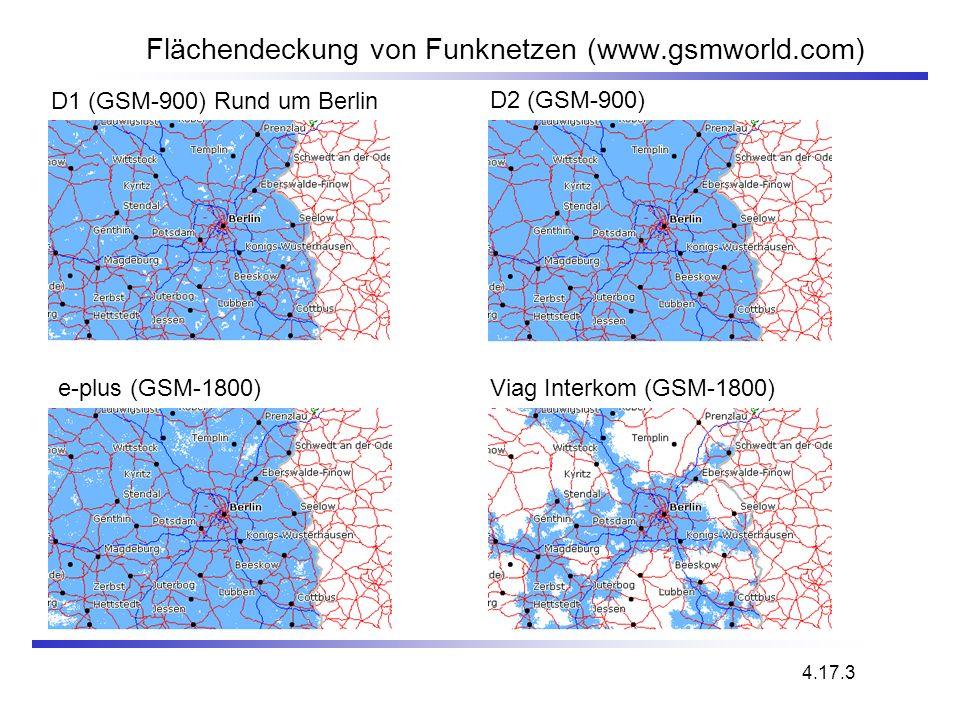 Flächendeckung von Funknetzen (www.gsmworld.com)