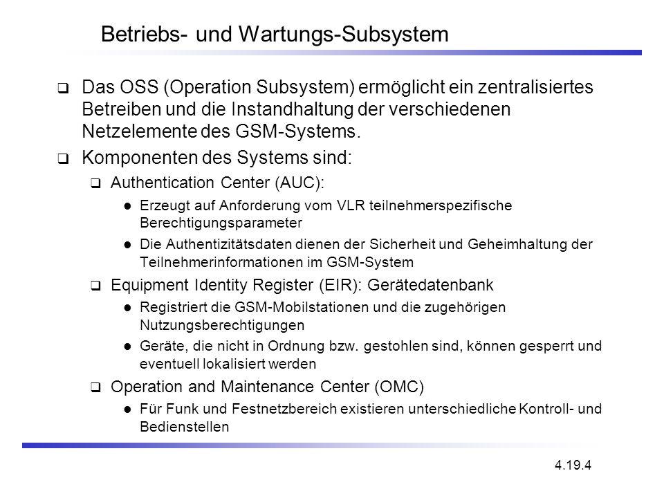 Betriebs- und Wartungs-Subsystem