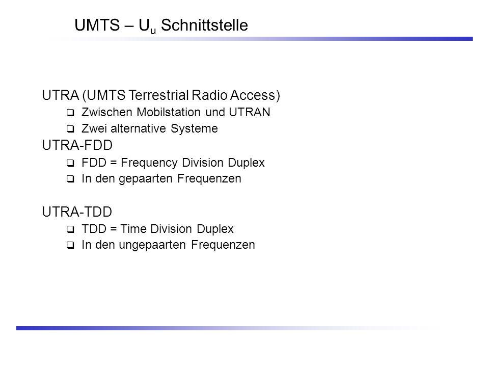 UMTS – Uu Schnittstelle