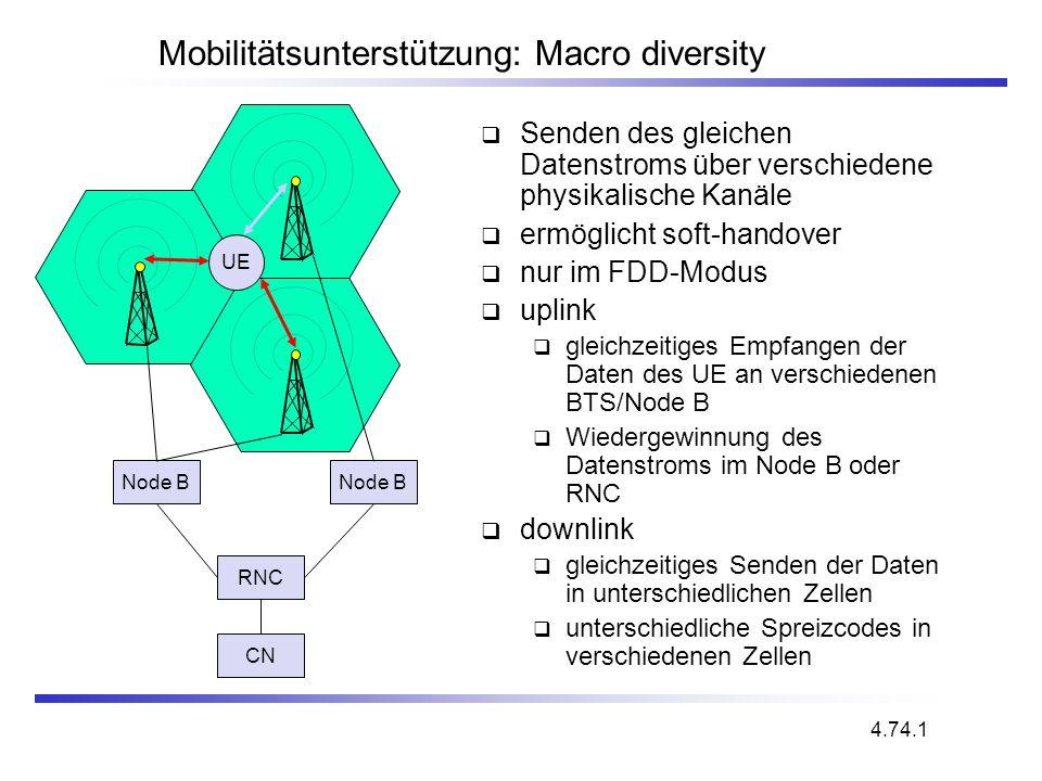 Mobilitätsunterstützung: Macro diversity