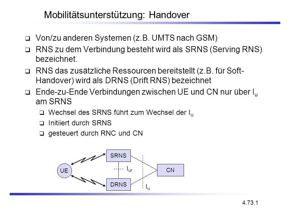 Mobilitätsunterstützung: Handover