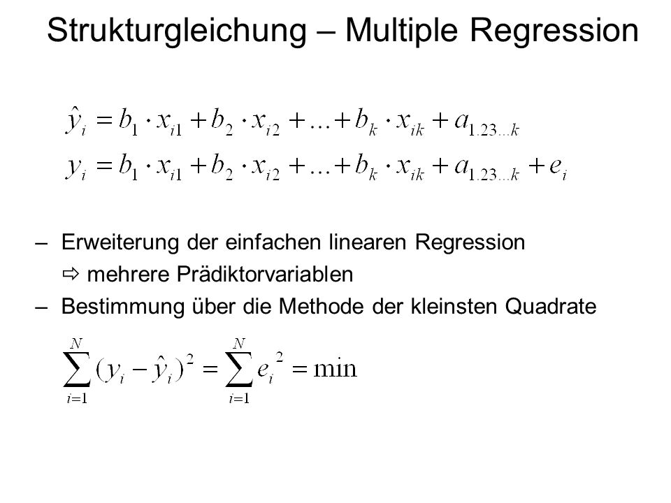 Strukturgleichung – Multiple Regression
