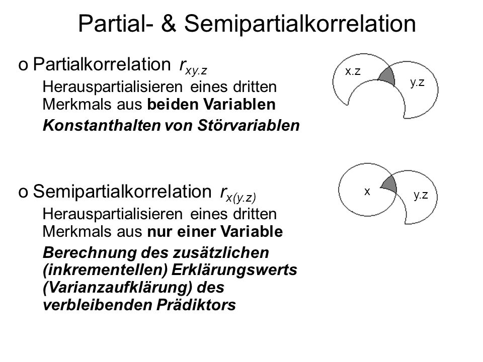 Partial- & Semipartialkorrelation