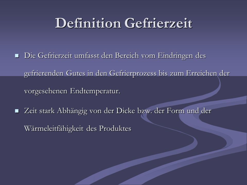 Definition Gefrierzeit
