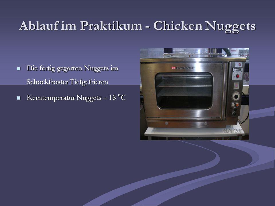 Ablauf im Praktikum - Chicken Nuggets