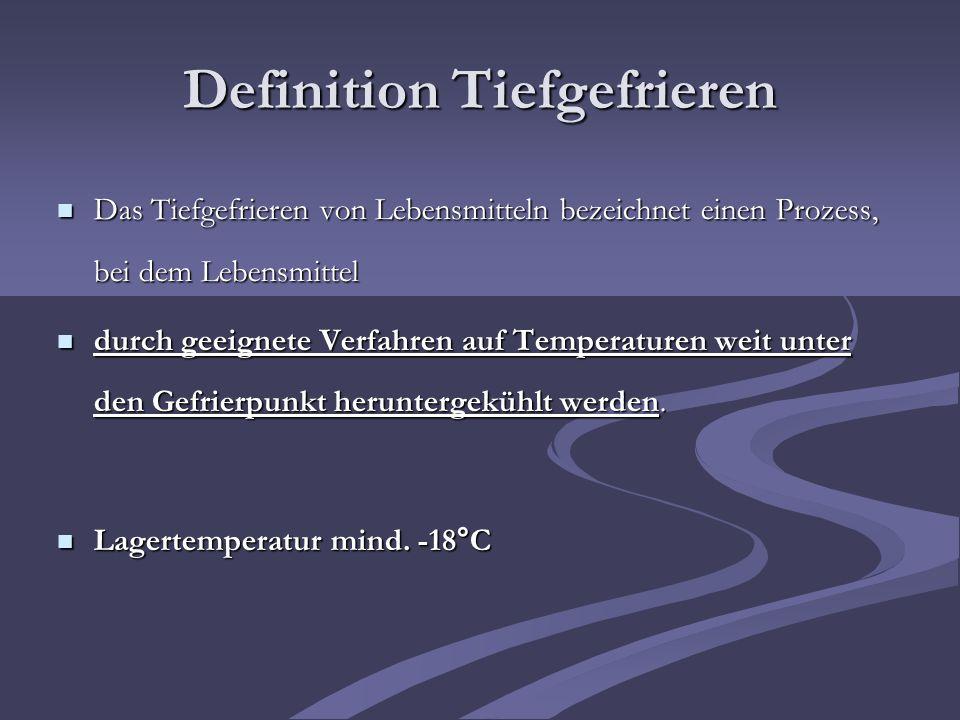 Definition Tiefgefrieren