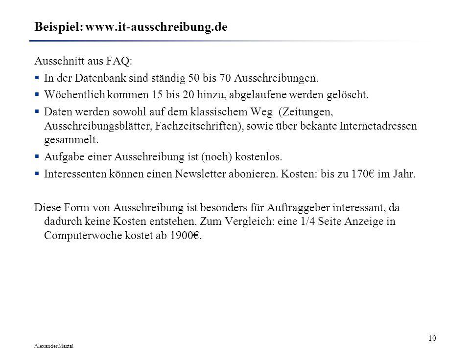 Beispiel: www.it-ausschreibung.de