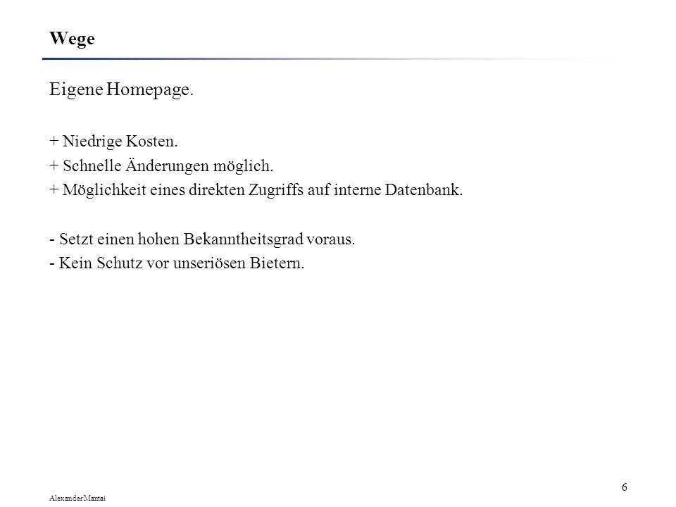 Wege Eigene Homepage. + Niedrige Kosten.
