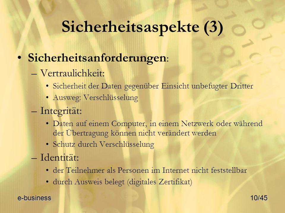 Sicherheitsaspekte (3)