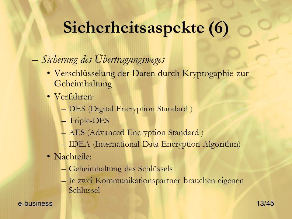 Sicherheitsaspekte (6)