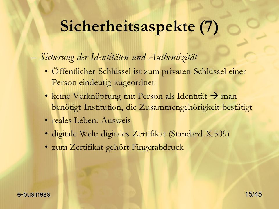 Sicherheitsaspekte (7)