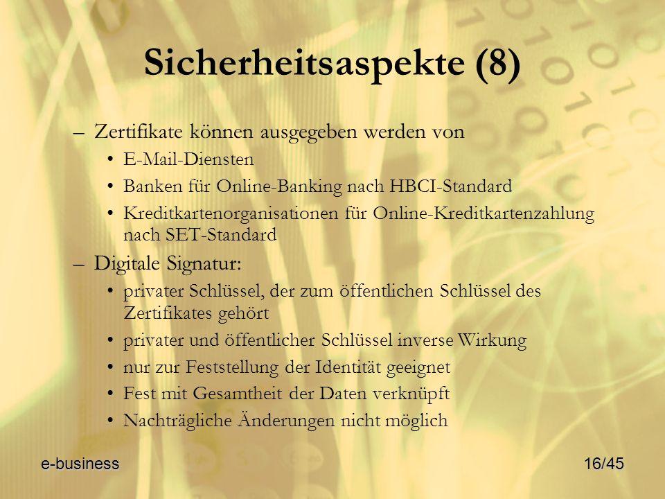 Sicherheitsaspekte (8)