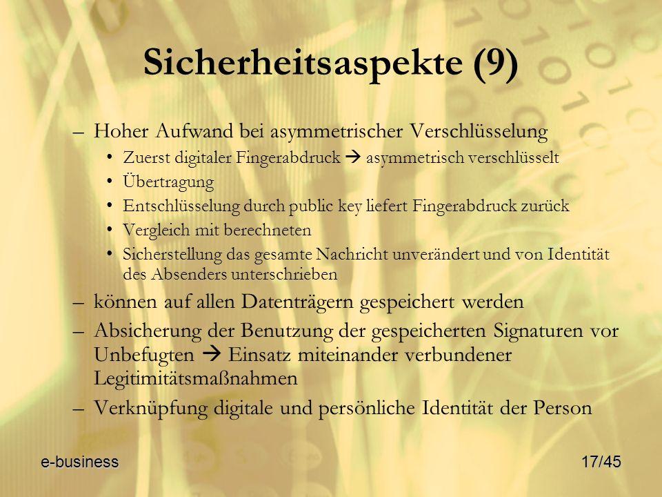 Sicherheitsaspekte (9)