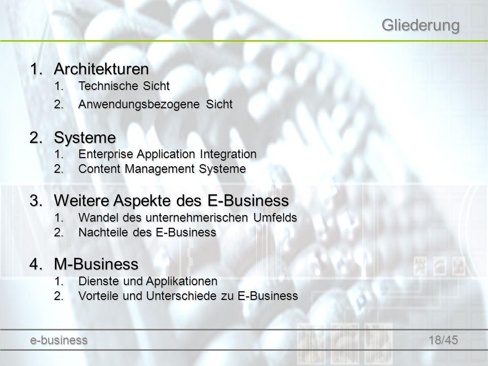 Weitere Aspekte des E-Business