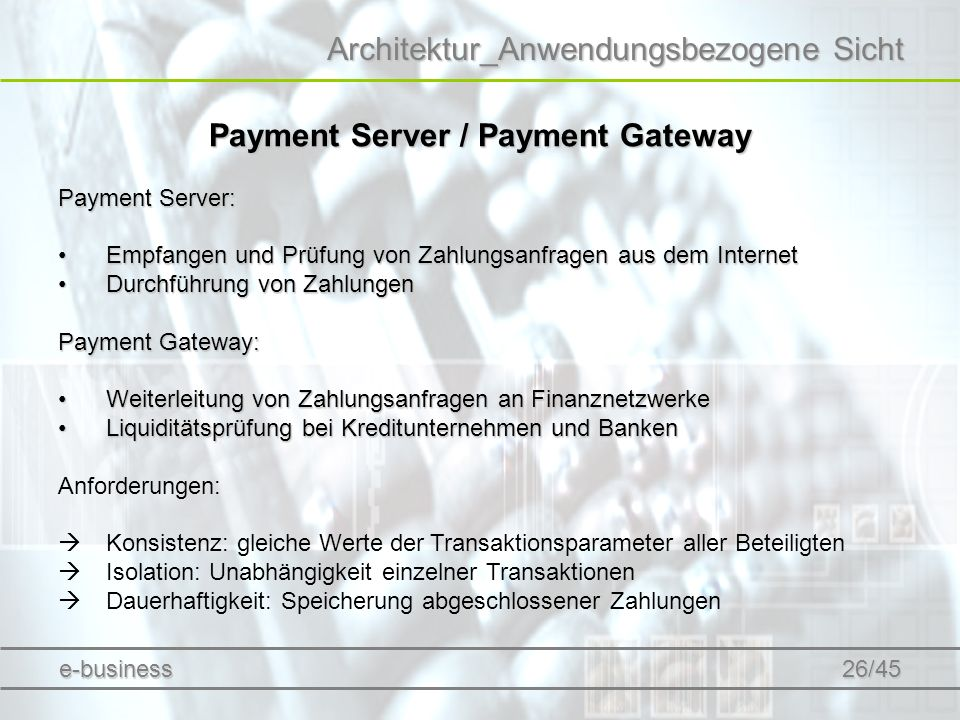 Payment Server / Payment Gateway
