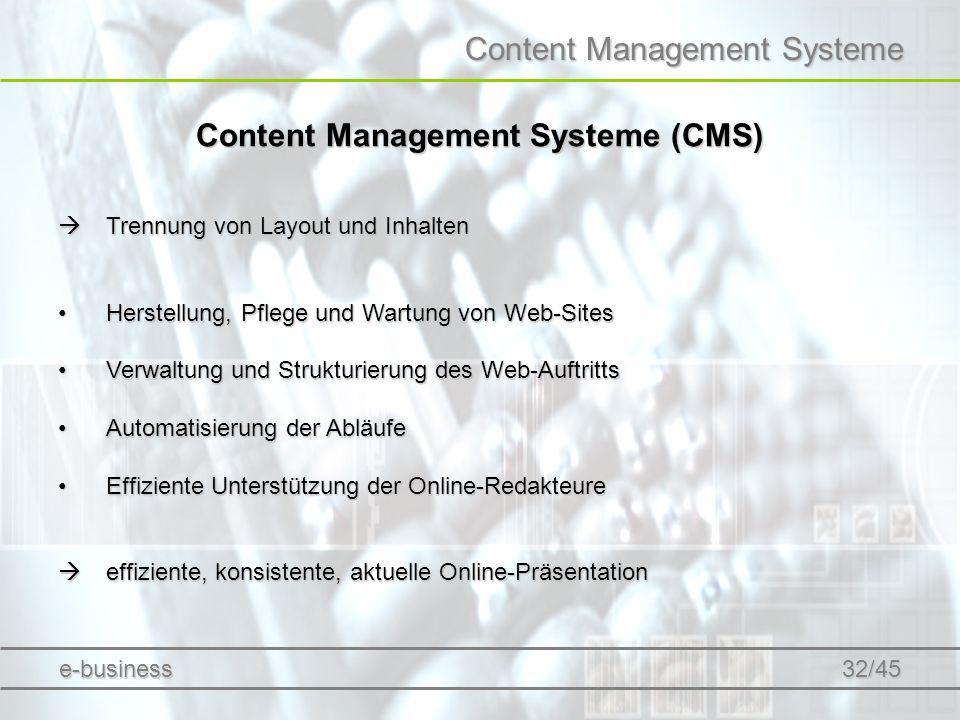 Content Management Systeme (CMS)