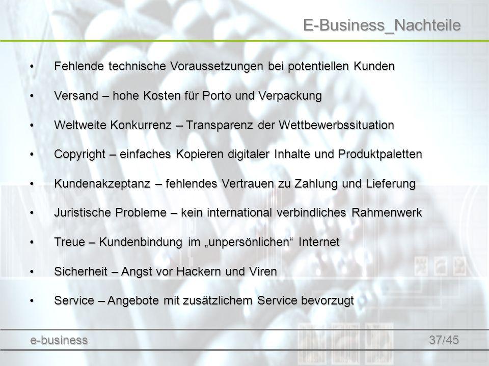 E-Business_Nachteile