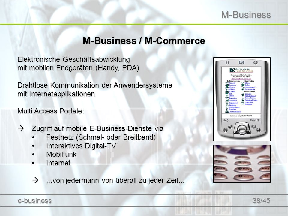 M-Business / M-Commerce