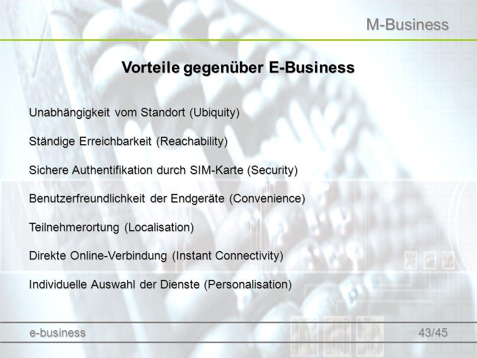 Vorteile gegenüber E-Business