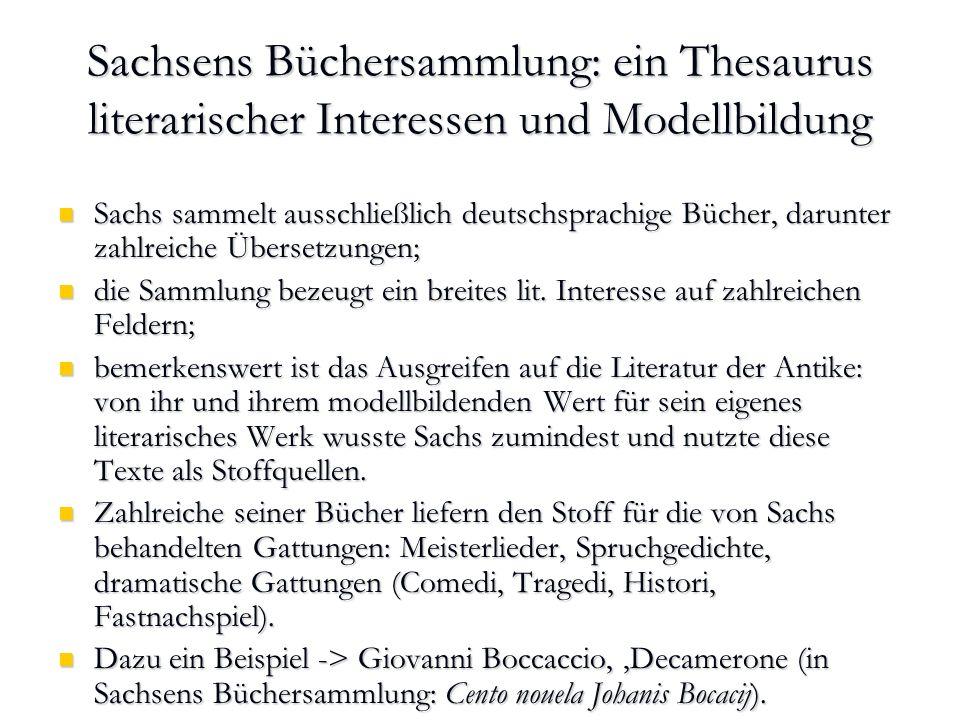 Sachsens Büchersammlung: ein Thesaurus