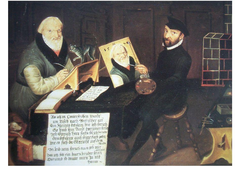 Der Nürnberger Maler Andreas Herneisen portraitiert Hans Sachs