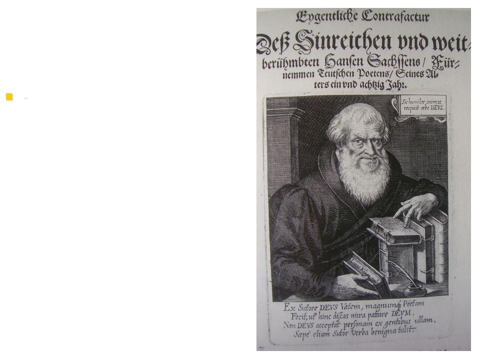 - Hans Sachs, dargestellt als Buchgelehrter