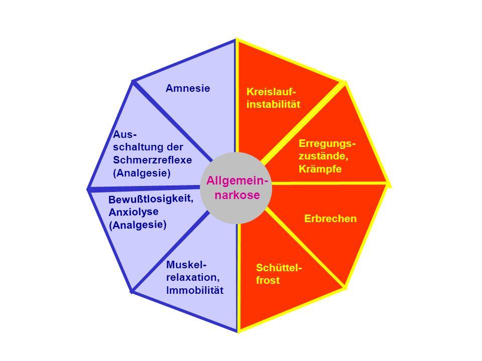 Allgemein- narkose Amnesie Kreislauf- instabilität Aus-