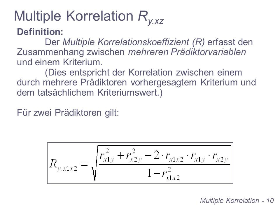 Multiple Korrelation Ry.xz