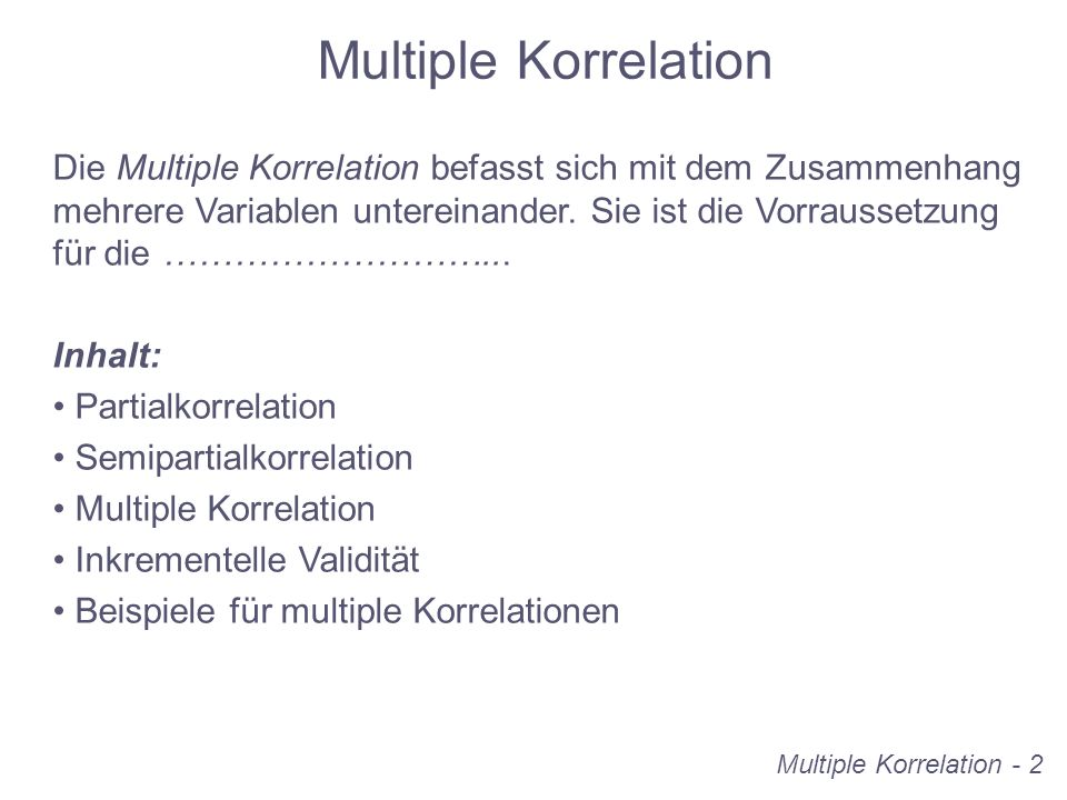 Multiple Korrelation