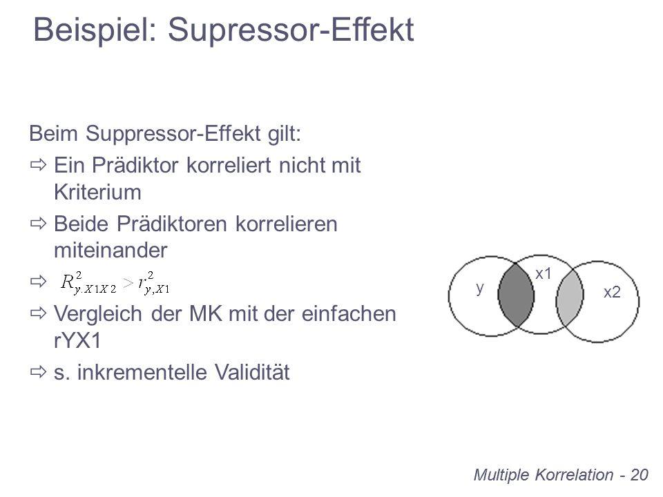 Beispiel: Supressor-Effekt